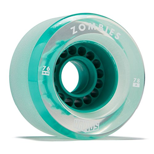 Hawgs Clear Zombie Longboard Wheels - 76mm - 78a - Teal
