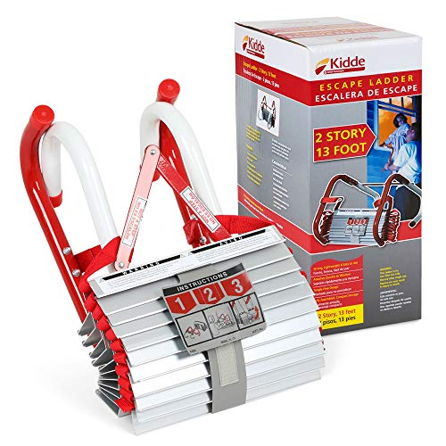 Kidde 468193 KL-2S Two-Story Fire Escape Ladder with Anti-Slip Rungs, 13-Foot