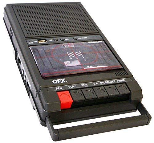 QFX RETRO-39 Shoebox Tape Recorder with USB Player