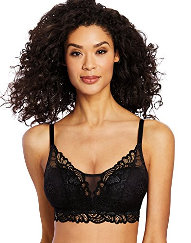 Bali Women's Lace Desire All Over Lace Wirefree Bra, Black, Large