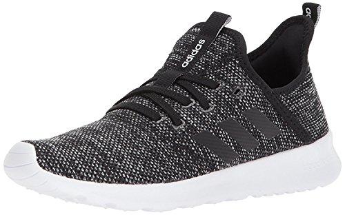 adidas Women's Cloudfoam Pure Running Shoe, black/black/white, 7 Medium US