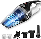 Homasy 8Kpa Portable Handheld Vacuum, Hand Vacuum Cordless with Powerful Cyclonic Suction, Rechargeable 14.8V Li-ion with Quick Charge Tech, Wet Dry Vac Cleaner for Car Pet Hair Dust Gravel Cleaning