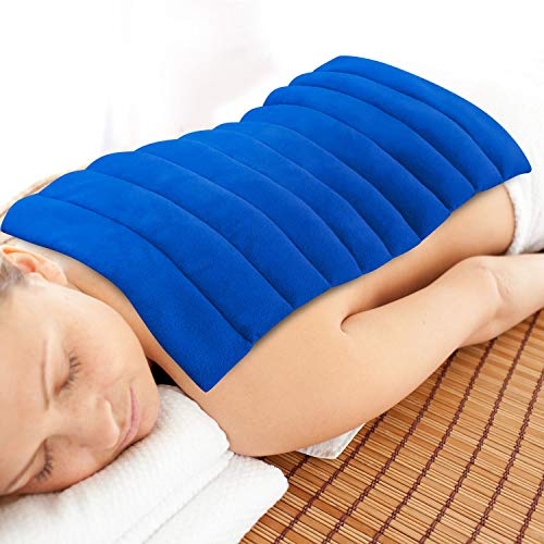 Heating Pad Microwavable Natural Moist Heat Therapy Warm Compress Pad w/Washable Cover for Back, Neck and Shoulders, Nerve, Cramps, Lower Lumbar Pain Relief Large by ComfortCloud