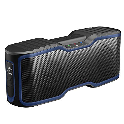 AOMAIS Sport II Portable Wireless Bluetooth Speakers Waterproof IPX7, 15H Playtime, V5.0, 20W Bass Sound, Stereo Pairing, for Outdoors, Travel, Pool, Home Party 2020 Upgrade Blue