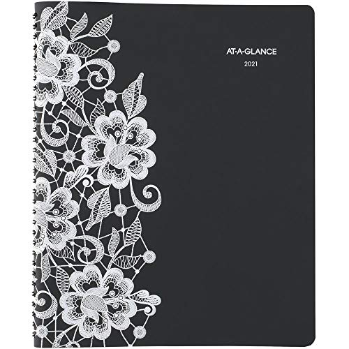 2021 Weekly & Monthly Appointment Book & Planner by AT-A-GLANCE, 8-1/2' x 11', Large, Lacey (541-905-21)