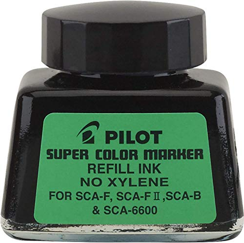 12 Pack Jumbo Marker Refill Ink, For Permanent Markers, 1 oz Ink Bottle, Black by PILOT CORP. OF AMERICA (Catalog Category: Paper, Pens & Desk Supplies / Pens / Refills)
