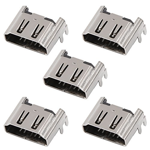 Serounder 5Pcs Replacement HDMI Port Interface Connector Socket for Sony for Playstation 4 for PS4 1000/1100/1200 Motherboard Console