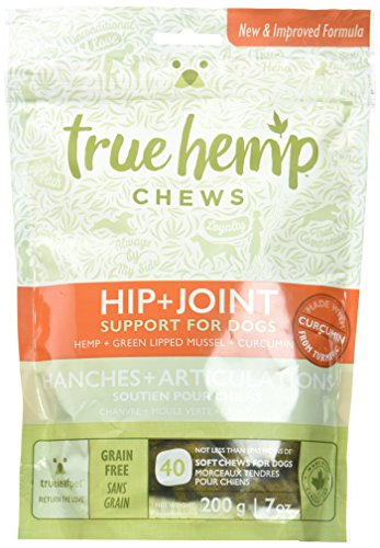 True Leaf Pet 40 Count Hemp Chews Hip + Joint Support for Dogs, 7 oz (Packaging may vary)