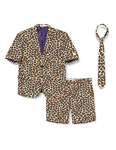 Opposuits Men's Summer Suit - The Jag - Includes Shorts, Short-Sleeved Jacket & Tie- US40