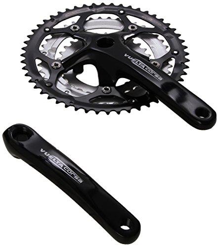 Vuelta Corsa Pro Crankset, Black, 175mm 52/42/30T Square Taper