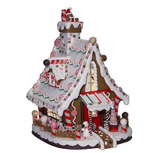 Kurt Adler 12-Inch Lighted Christmas Gingerbread House