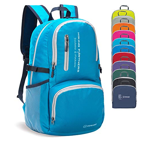 ZOMAKE Lightweight Packable Backpack Water Resistant Hiking Daypack, Small Travel Backpack for Women Men
