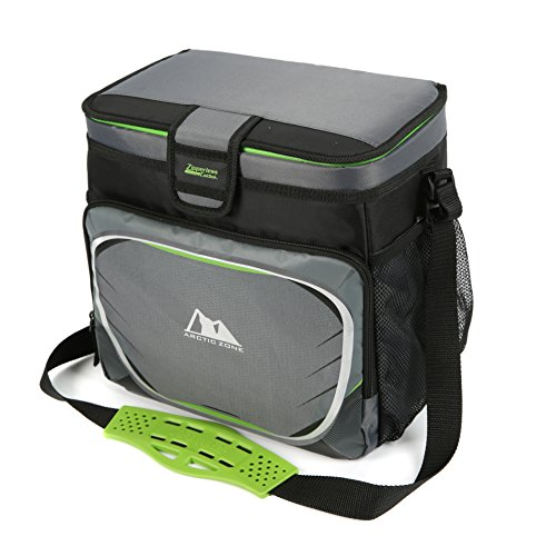 Arctic Zone 16-Can + Ice Zipperless Cooler (Gray)