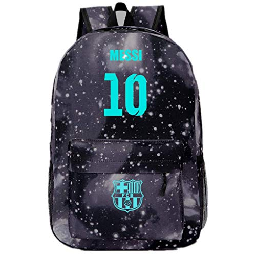Fabackpack 10 Messi Fans Backpack Barcelona FC Backpack Noctilcent Bag For Outdoor School Travel