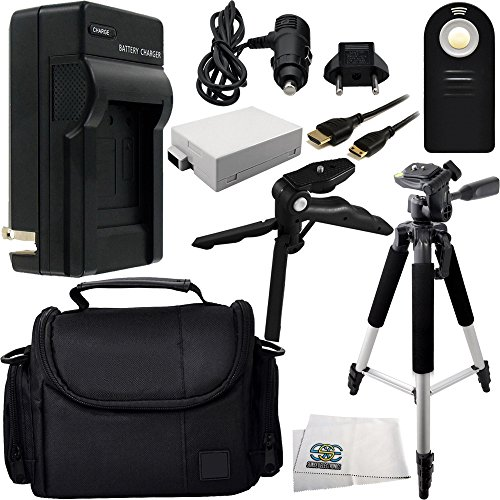 Essential Accessory Kit for Canon EOS Rebel T2i, T3i, T4i, T5i. Includes Replacement LP-E8 Battery + AC/DC Rapid Home & Travel Charger + Full Size Tripod + Pistol Grip/Table Top Tripod and More
