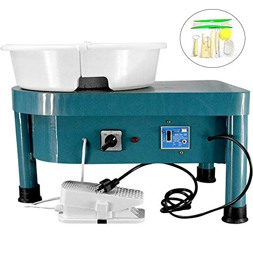 A.B Crew Pottery Forming Machine 350W Electric Pottery Wheel with Foot Pedal DIY Clay Tool Ceramic Machine Work Clay Art Craft