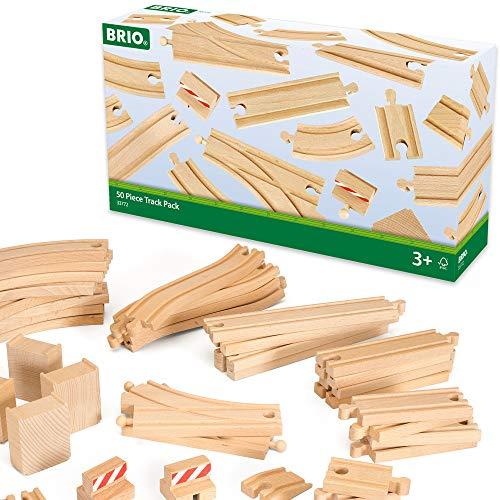 BRIO 33772 Special Track Pack   50 Pieces of Wooden Tracks and Train Accessories for Kids Age 3 and Up