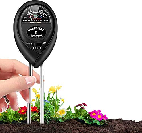 Auralto Soil pH Meter, 3-in-1 Soil Moisture/Light/pH Tester and Humidity Meter for Gardening, Lawn, Farm, Indoor & Outdoor, Soil Moisture Meter(No Battery Needed)