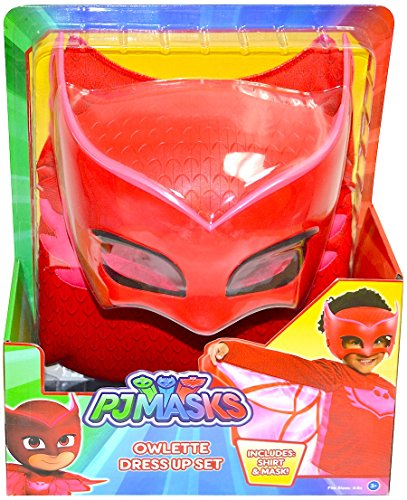 PJ Masks Owlette Deluxe Dress Up Top & Mask (Red)