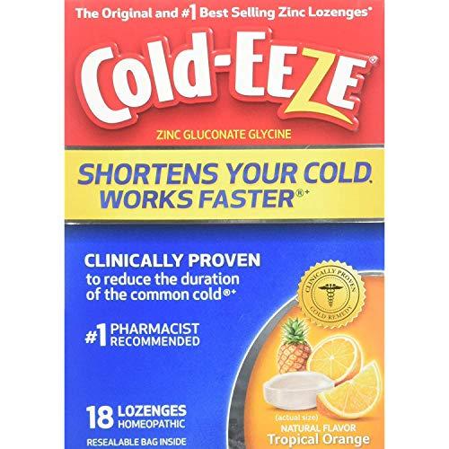 Cold-Eeze Lozenges Tropical Orange Flavor - 18 Ct., Pack of 2
