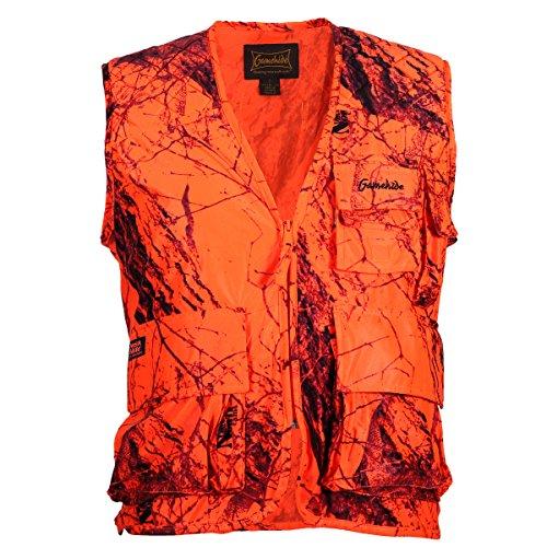 Gamehide Sneaker Big Game Vest Blaze Camo, X-Large