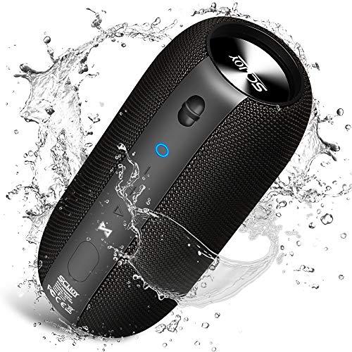 Bluetooth Speakers, SCIJOY IPX7 Waterproof Speakers 20W, True Wireless Portable Speaker Built-in Mic, Outdoor Rich Bass Speaker, 360° Stereo Sound Speakers for Home, Party, Shower, Travel, Beach