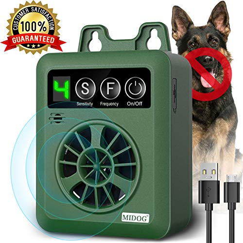 MIDOG Dog Barking Control Devices, Anti Barking Device with 4 Adjustable Volume Level, Ultrasonic Dog Bark Deterrent, Sonic Bark Silencer Stop Barking for Small Dog