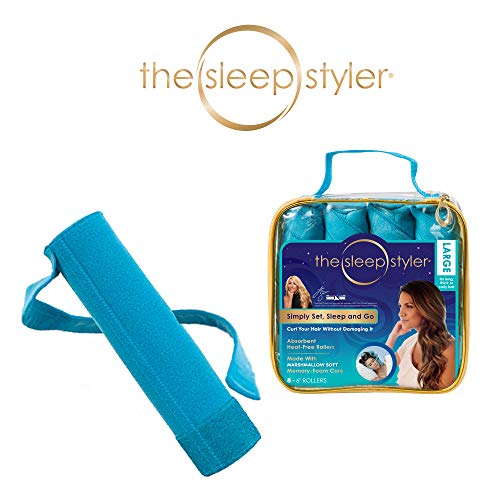 """Allstar Innovations Sleep Styler: The heat-free Nighttime Hair Curlers for long, thick or curly hair, Large (6"""" Rollers), 8 Count, As Seen on Shark Tank"""