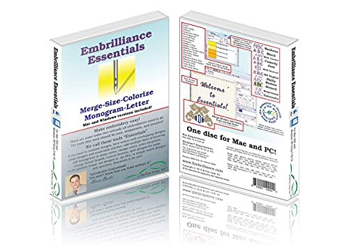 Embrilliance Essentials, Embroidery Software for Mac & PC