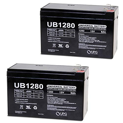 12VOLT 8AMP HOUR RECHARGEABLE SEALED LEAD ACID 12V 8AH BATTERY - 2 Pack