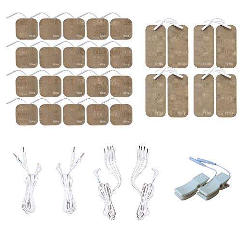 TENS 7000 Compatible Deluxe Refresh and Upgrade Pack, Renew Your TENS 7000 with Premium Electrodes and Lead Wires, Discount TENS Brand (Deluxe Pack)