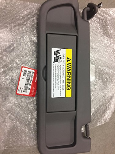 Honda Genuine 83280-SNA-A01ZA Sun Visor Assembly, Left, Atlas Gray