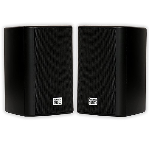 Acoustic Audio by Goldwood AA351B Indoor Outdoor 2 Way Speakers 500 Watt Black Pair
