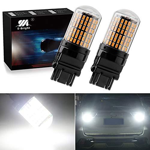 EverBright Extremely Bright 3250Lumen 3157 LED Brake Light Bulbs, Canbus No Hyper Flash for Camper Trailer RV MPV 3156 3056 3057 4157 Brake Led Bulb, 3014 Chipset 144SMD White (Pack of 2)