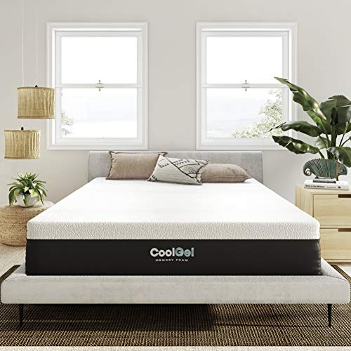 Classic Brands Cool Gel and Ventilated Memory Foam 12-Inch Mattress CertiPUR-US Certified, Twin, White