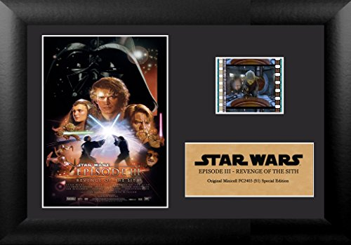 FilmCells 7x5 Star Wars Episode III Revenge of the Sith Framed Film Cells Special Edition Display, Black