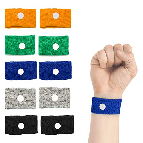 Motion Sickness Relief Wristbands Acupressure Wristbands Nausea Relief Band for Morning Sickness & Sea, Travel, Car Sickness