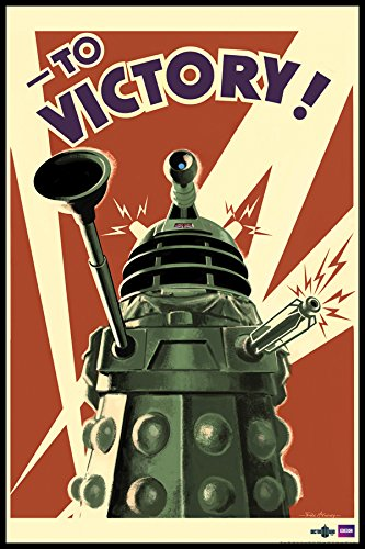 Doctor Who Dalek to Victory TV Television Show Framed Poster Print 24x36