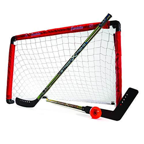 Franklin Sports Hockey Goal and 2 Stick Set - NHL