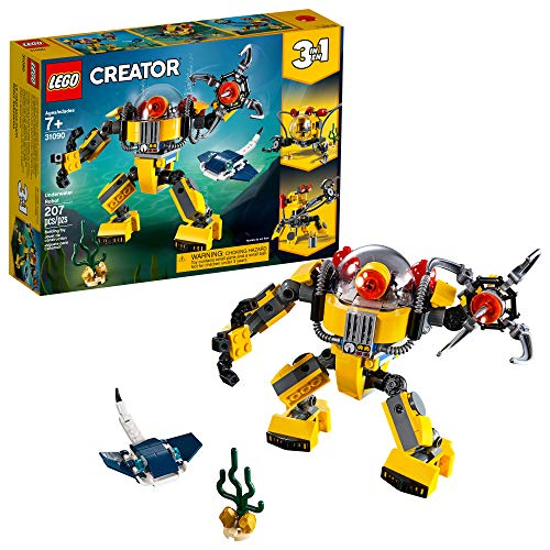 LEGO Creator 3in1 Underwater Robot 31090 Building Kit (207 Pieces)