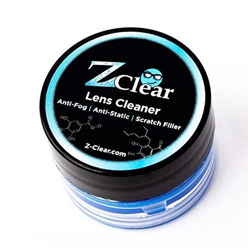 Z Clear Lens Cleaner & Anti-Fog: Paste   Stays Cleaner for Longer - Anti-Static - Scratch-Filler   Safe on All Lenses, Alcohol & Ammonia Free   All Glasses, Goggles, Optics, Masks