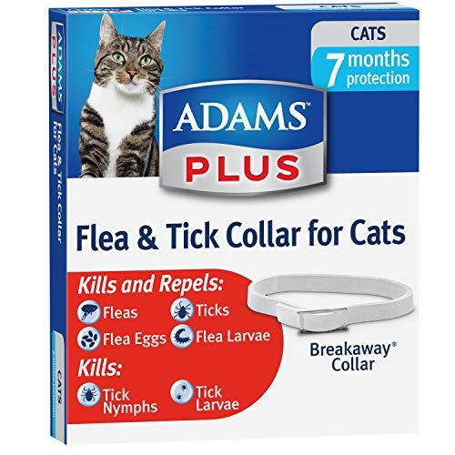 Collier anti-puces et tiques Adams Plus, toutes tailles, chat