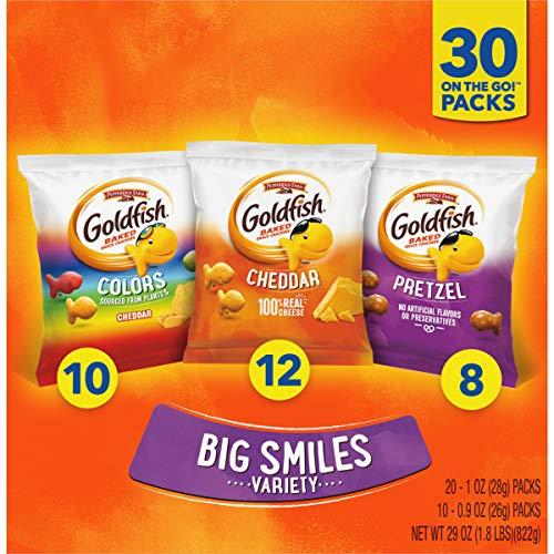 Pepperidge Farm Goldfish Classic Mix Crackers, 29 Oz Variety Pack Box, 30 Count Snack Packs