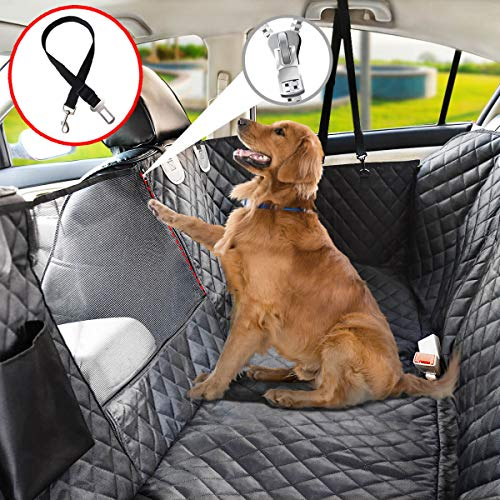 Vailge Dog Seat Cover for Back Seat, 100% Waterproof Dog Car Seat Covers with Mesh Window, Scratch Prevent Antinslip Dog Car Hammock, Car Seat Covers for Dogs, Dog Backseat Cover for Cars,X-Large