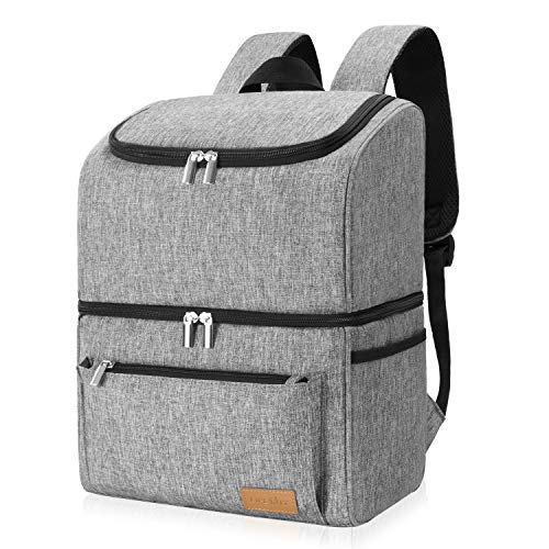 Lifewit Cooler Backpack 32 Can Insulated Lightweight Backpack Cooler, Large Capacity Soft-Sided Double Decker Cooler Bag for Men Women to Beach/Picnic/Camping/Hiking/Day Trips