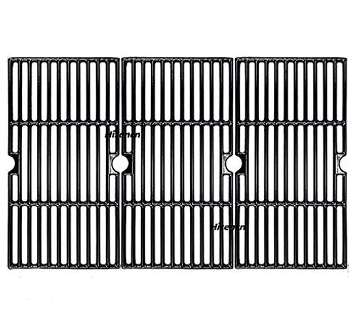 Hisencn 16 7/8 x 9 5/16 Grill Grates for Charbroil 463436215, 463436214, 463436213, 463420508, 463440109, 463441312, 463441514 Models, Porcelain Enameled Cast Iron Cooking Grate for Thermos 461442114