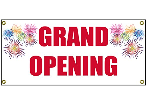 Grand Opening Banner Retail Store Shop Business Sign 36' by 15'