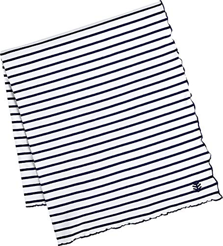 Coolibar UPF 50+ Savannah Sun Blanket - Sun Protective (One Size- Navy/White Stripe)
