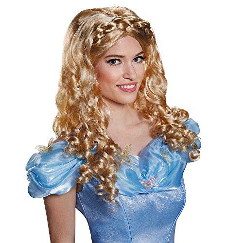 Disney Disguise Women's Cinderella Movie Adult Costume Wig, Blonde, One Size