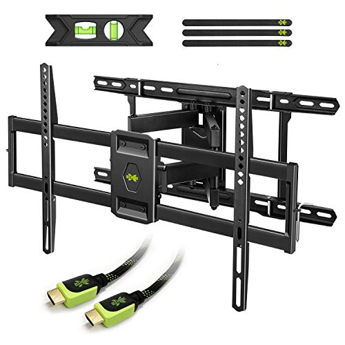 USX MOUNT Full Motion TV Mount Wall Bracket for 42'-80' Flat Screen LED LCD 4K TV, Tilt Swivel TV Mounts with Articulating Arms Max VESA 600x400mm, Weight Capacity 110lbs Up to 24' Wood Stud